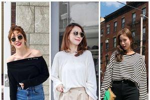 Thời trang Thu 2018: Mix đồ siêu xinh cùng các kiểu áo thun đơn giản nhưng cuốn hút cho chị em