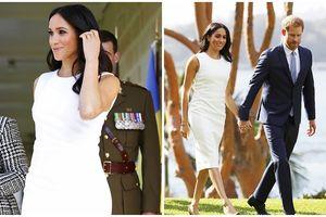 Công nương Meghan đẹp rạng ngời, hạnh phúc bên Hoàng tử Harry sau thông tin mang bầu