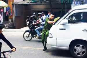 Tài xế đẩy cảnh sát hàng trăm mét trên phố Đà Lạt ra trình diện