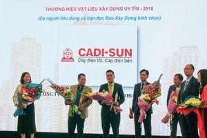 CADI-SUN lọt Top 10 Thương hiệu Nội thất – Vật liệu Xây dựng uy tín 2018