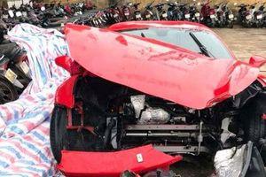 Xác định danh tính người lái siêu xe Ferrari 488 GTB của ca sĩ Tuấn Hưng gặp nạn trên cao tốc