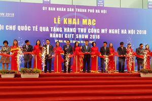 Khai mạc Hội chợ quốc tế Quà tặng hàng thủ công mỹ nghệ Hà Nội 2018