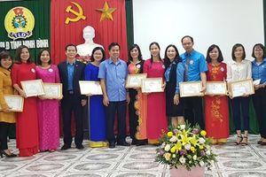 LĐLĐ tỉnh Ninh Bình: Tổ chức hội thi thuyết trình trong cán bộ công đoàn chuyên trách 2018