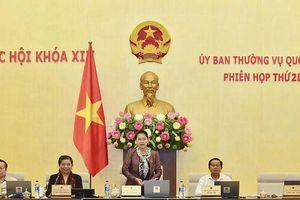 Ủy ban Thường vụ Quốc hội bế mạc Phiên họp thứ 28