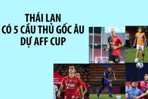 Có đến 5 hảo thủ gốc châu Âu cùng Thái Lan dự AFF Cup 2018