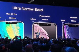 Viền màn hình iPhone Xs Max không mỏng như người ta vẫn tưởng