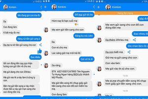 'Con gái giả' nhắn tin trên facebook lừa mẹ lấy 40 triệu đồng