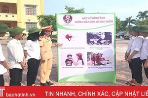 Hơn 15.000 học sinh Cẩm Xuyên ký cam kết chấp hành Luật Giao thông đường bộ