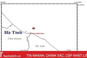 Viện Vật lý địa cầu thông tin về vụ động đất xảy ra ở vùng biển Hà Tĩnh