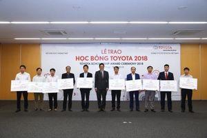 Toyota Việt Nam trao 115 suất học bổng cho sinh viên 16 trường đại học