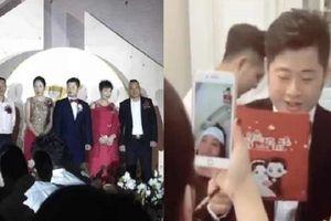 Cô dâu bận sinh con, chú rể tổ chức đám cưới một mình