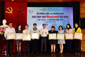 Tổng kết, trao thưởng Giải chạy Báo Hànôịmới mở rộng lần thứ 45