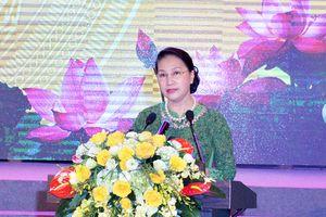 Chủ tịch Quốc hội Nguyễn Thị Kim Ngân dự Lễ kỷ niệm 60 năm Bác Hồ về thăm tỉnh Bắc Ninh