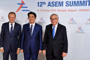 ASEM 12: EU - Nhật Bản quyết sớm hoàn tất thỏa thuận thương mại tự do