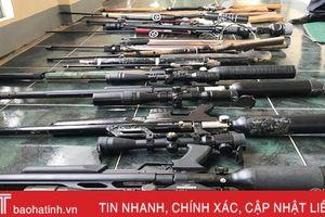 Thu giữ 15 khẩu súng PCP độ sát thương cao tại địa bàn Hương Khê