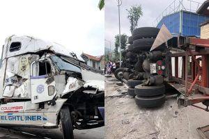 Khẩn trương xác định danh tính nạn nhân vụ container mất lái đè chết 2 người ở ngã ba 'tử thần'