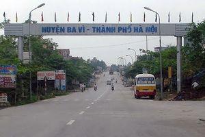 Hà Nội điều chỉnh tuyến đường đi qua thị trấn Tây Đằng, huyện Ba Vì