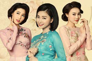 Tam cô nương Ngô Thanh Vân - Lan Ngọc - Diễm My diện áo dài sắc thu mừng 'Cô Ba Sài Gòn' chiếu ở Mỹ