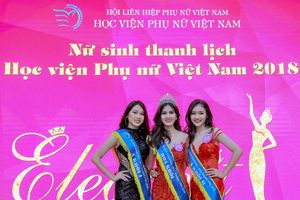 Lê Vân Anh đăng quang Hoa khôi Học viện Phụ nữ Việt Nam 2018