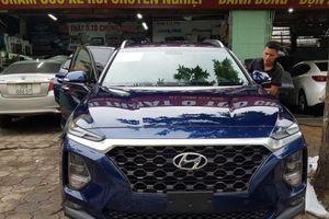Hyundai Santa Fe 2019 bất ngờ được đưa đi 'chăm sóc sắc đẹp' ở Hà Nội