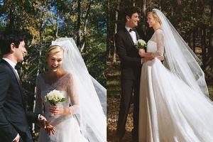 Chân dài đình đám Karlie Kloss bất ngờ kết hôn trong rừng, mặc váy cưới Dior hàng thửa
