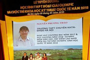 Nữ sinh xuất sắc nhất Olympic Sinh học Quốc tế 2018 nhận Huân chương Lao động hạng Ba