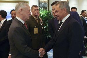 Bộ trưởng Quốc phòng Mỹ Mattis lần đầu gặp người đồng cấp Nga