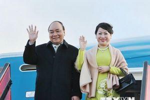 Thủ tướng đến Copenhagen, bắt đầu tham dự P4G và thăm Đan Mạch