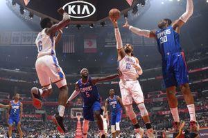 Chùm ảnh: Vươn lên mạnh mẽ, LA Clippers dành được chiến thắng ngược dòng trước Oklahoma City Thunder