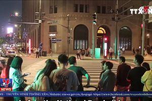 Trung Quốc thí điểm đèn giao thông trên mặt đường