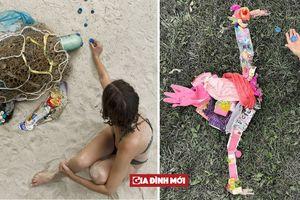 Những tác phẩm động vật được xếp từ rác thải nhựa: Chúng ta đã làm gì với Trái Đất?