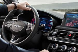 Genesis G70 đi đầu thế giới với bảng đồng hồ công nghệ hiển thị 3D