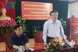 Bình Định: Chưa phát hiện tham nhũng qua tự kiểm tra, giám sát nội bộ
