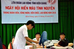 LĐLĐ Kiên Giang: Trên 300 đoàn viên tham gia Ngày hội hiến máu tình nguyện