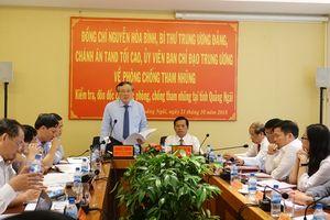 Chánh án TANDTC Nguyễn Hòa Bình làm việc với tỉnh Quảng Ngãi về phòng, chống tham nhũng