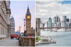 Xem ngay những so sánh giữa London và New York để quyết định nên đến thành phố nào trước tiên
