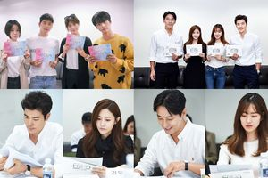 Joo Ji Hoon, Jin Se Yun, Kim Kang Woo và Kim Sun A rạng rỡ trong buổi đọc kịch bản đầu tiên của 'Item' và 'Red Moon Blue Sun'