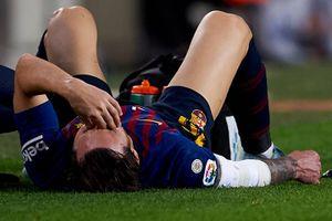 Cận cảnh Messi dính chấn thương nặng, lỡ El Clasico