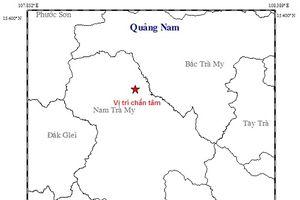 Một ngày, Quảng Nam xảy ra 2 trận động đất