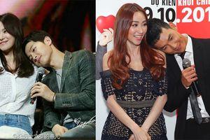 Song Luân 'sao y' cử chỉ của Song Joong Ki nũng nịu bạn diễn Ngân Khánh