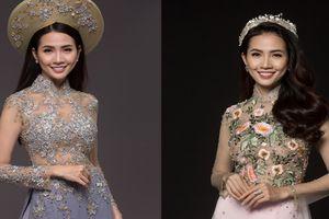 Hoa hậu Phan Thị Mơ khoe dáng trong tà áo dài