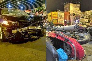 Cảnh tượng kinh hoàng vụ xe BMW tông liên hoàn tại ngã tư Hàng Xanh