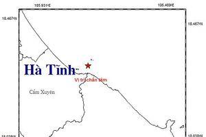 Lại xảy ra động đất ngoài khơi Hà Tĩnh
