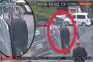 Lộ giây phút nhà báo Khashoggi và vợ sắp cưới ở lãnh sự quán Ả Rập