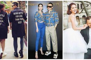 Suốt ngày diện đồ đôi tình tứ, showbiz Việt có ai thân thiết như cặp ông bầu Vũ Khắc Tiệp - 'gà cưng' Ngọc Trinh