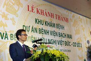 Khánh thành Khu Khám bệnh cơ sở 2 Bệnh viện Bạch Mai và Bệnh viện Việt Đức