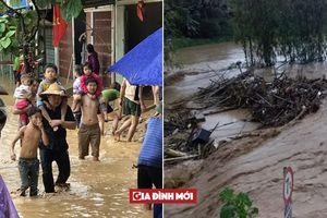 Lũ lớn đột ngột ở Lào Cai, nhiều nhà dân bị cuốn trôi, phát hiện 1 người chết