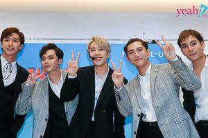 Monstar lần đầu ra mắt phiên bản 5 thành viên đẹp trai lộng lẫy trong sự kiện du lịch Hàn Quốc