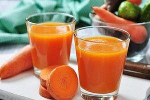 Mỗi ngày 1 ly nước ép cà rốt, cơ thể nhận lấy loạt tác dụng không ngờ