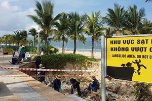 Sau cơn mưa lớn, bờ biển Mỹ Khê – Đà Nẵng lại sạt lở nghiêm trọng